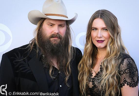 Recording artist Chris Stapleton and Morgane Stapleton