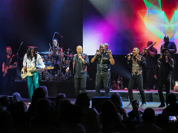 Earth, Wind & Fire Perform at The Pearl Concert Theatre at Palms Casino Resort in Las Vegas