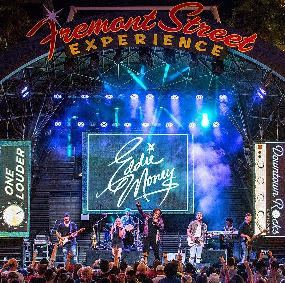 Eddie Money takes over Fremont Street Experience during Downtown Rocks