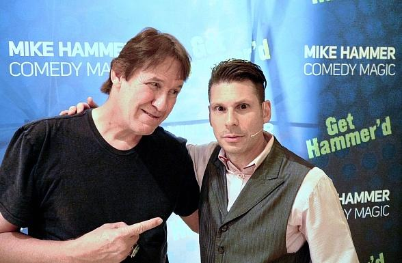 """Texas Chainsaw Massacre"" actor Edwin Neal visits ""The Mike Hammer Comedy Magic Show"" at Four Queens Hotel & Casino in Las Vegas"