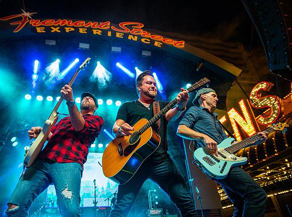 "Eli Young Band Delivers Booming Performance at Fremont Street Experience During ""Downtown Rocks"" on July 4"