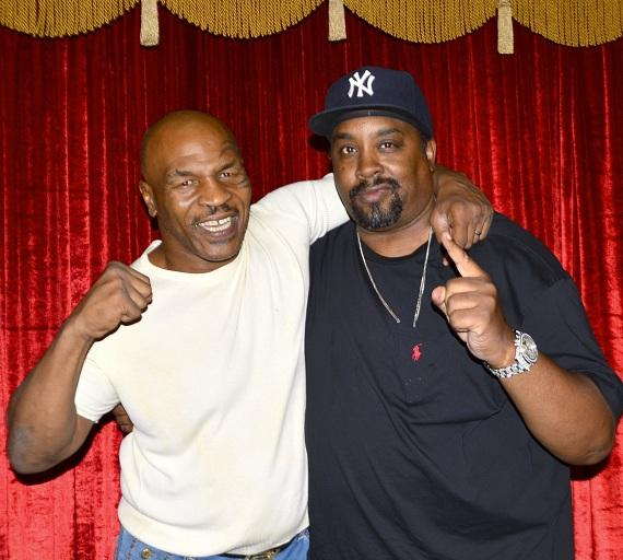 """Mike Tyson and Eric B at """"Mike Tyson Undisputed Truth"""""""