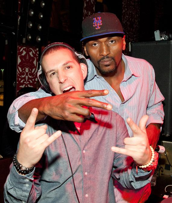Eric D Lux and Ron Artest at TAO