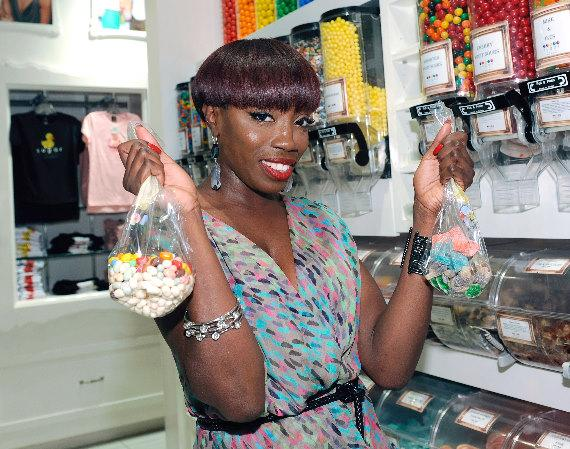 Estelle Scoops Candy for Friends at Sugar Factory