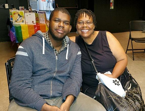 Mother and Son attendees at Second Annual Family Pride Day at Clark County Library