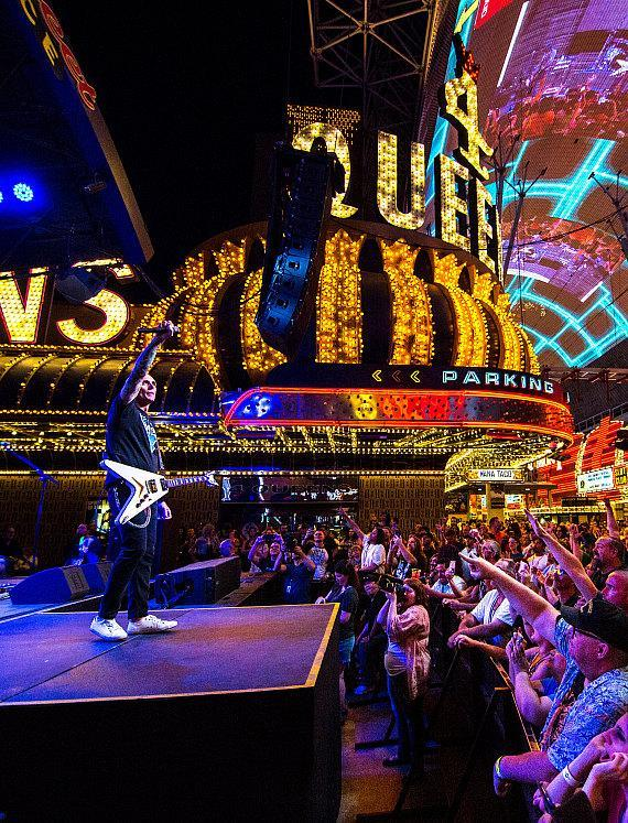 Everclear performs during Downtown Rocks on Fremont Street Experience