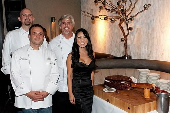 Executive Chef for Hard Rock Hotel & Casino, Kurtess Mortensen, Chef de Cuisine for 35, Chris Noble, Executive Pastry Chef, Thomas Bell, General Manager for 35, Linda Sim