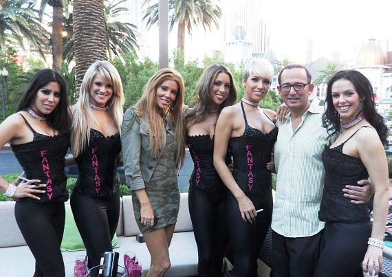 Owner of RHUMBAR MIchael Frey and the cast of FANTASY on the patio at Bubble Wednesdays