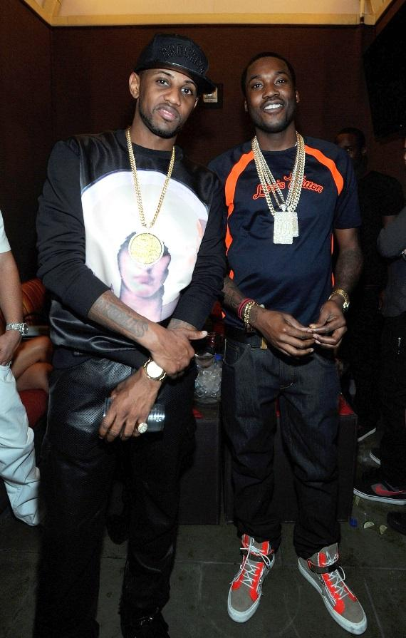 "Fabolous and Meek Mill revel in excitement at Diddy's ""Fight Night After Party"" at Palms Pool inside Palms Casino Resort in Las Vegas."