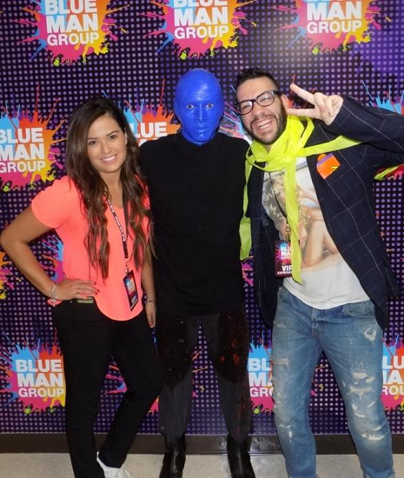 Mexican actor Faisy spotted at Blue Man Group Las Vegas