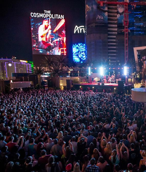 Fall Out Boy performs at Boulevard Pool at The Cosmopolitan of Las Vegas