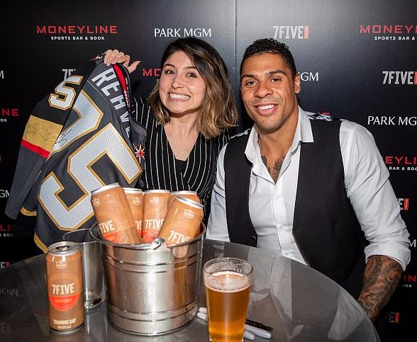 Vegas Golden Knights' Ryan Reaves Helps Relaunch Moneyline Sports Bar & Book at Park MGM in Las Vegas
