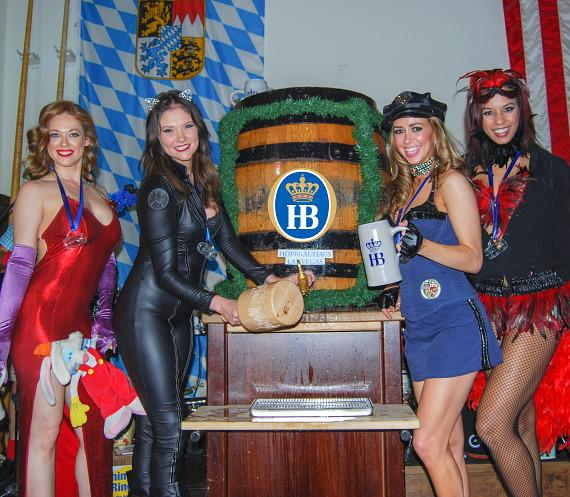 Ladies of FANTASY Tapping Kegs at Hofbräuhaus Las Vegas