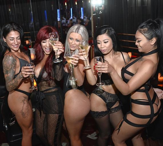 Farrah Abraham and dancers at Crazy Horse III in Las Vegas