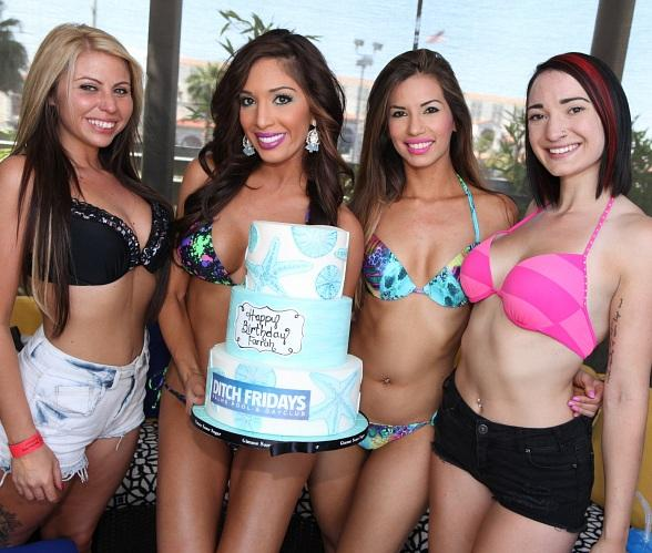 Farrah Abraham Celebrates Birthday with Reality TV Stars Pauly D and Chumlee at Ditch Fridays