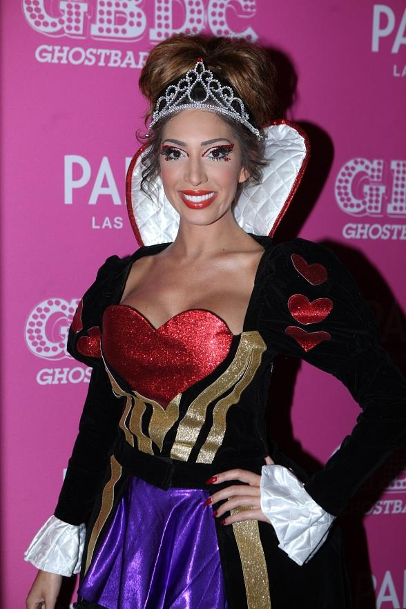 Reality TV Star, Farrah Abraham Shows off Halloween Spirit as Queen of Hearts at Ghostbar Dayclub