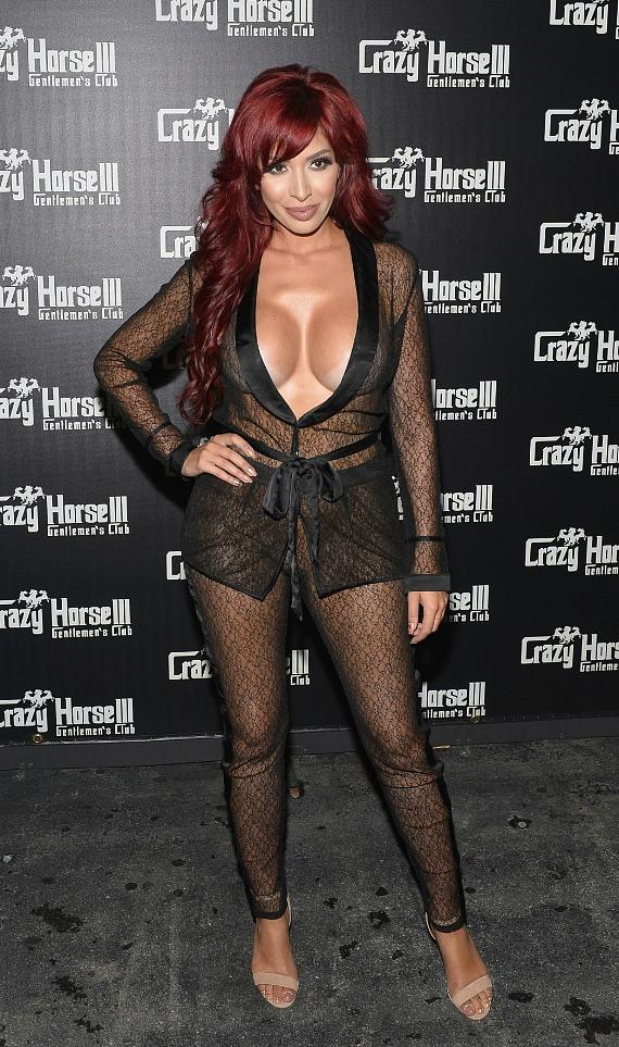 Farrah Abraham on the red carpet at Crazy Horse III in Las Vegas