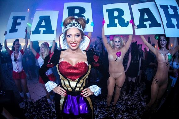 Farrah Abraham bottle presentation at Ghostbar Dayclub