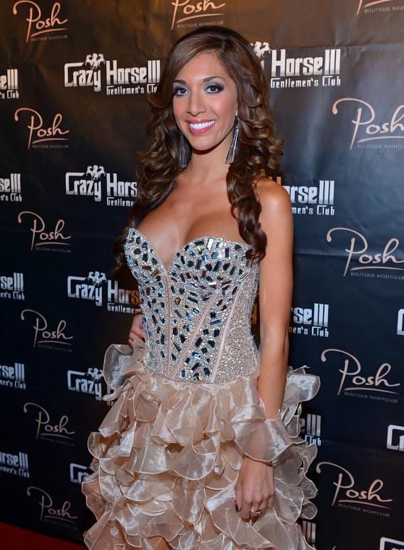 Farrah Abraham on the red carpet at Crazy Horse III