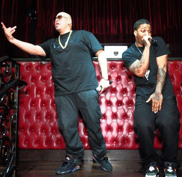 Fat Joe and back up vocalist TA perform at LAX Nightclub
