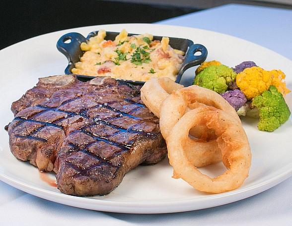 Father's Day Dinner at Oscar's Steakhouse at Plaza Hotel & Casino in Las Vegas