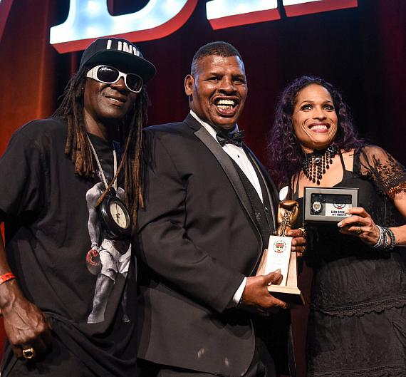 Flavor Flav and Leon Spinks
