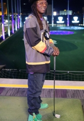 Flavor Flav Films a Promo Spot for Vegas Golden Knights at Topgolf Las Vegas