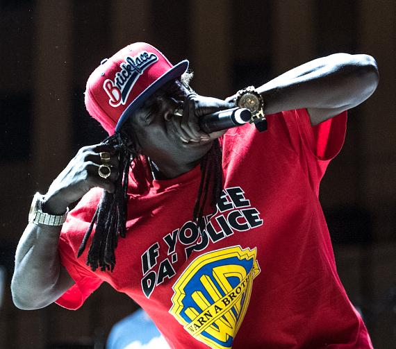 Flavor Flav performs with Public Enemy