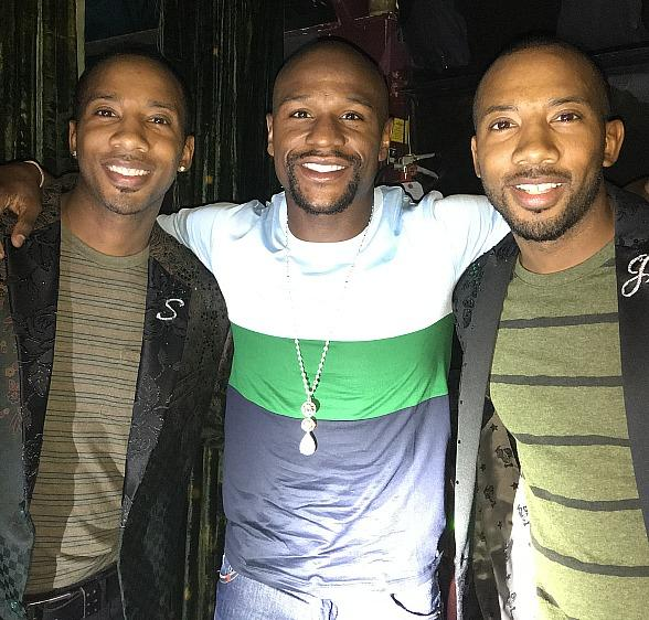 Champion Floyd Mayweather Attends ABSINTHE at Caesars Palace Las Vegas