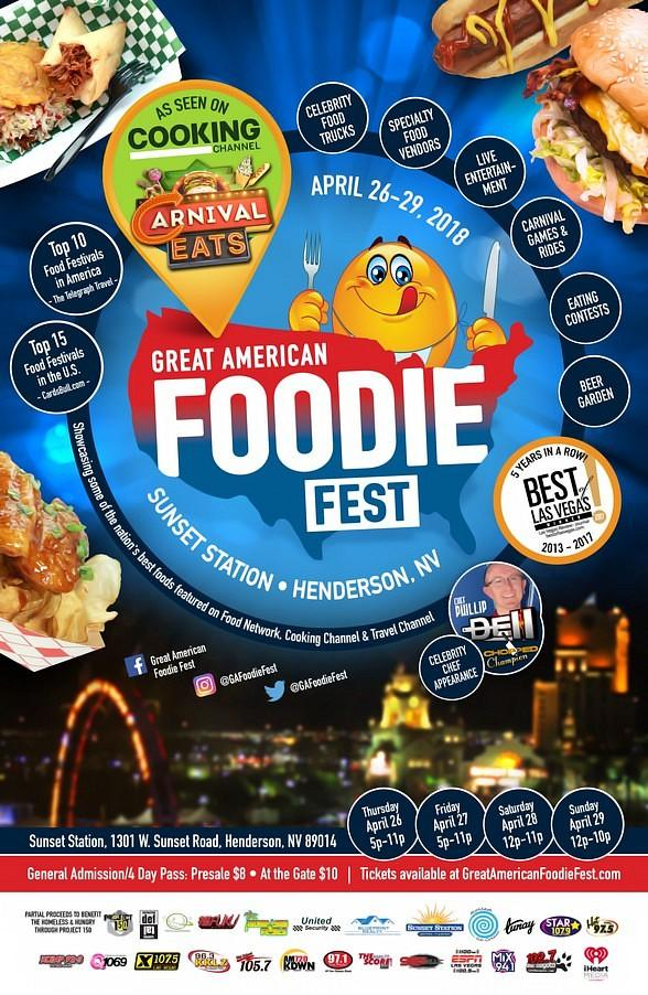The Great American Foodie Fest Is Back! April 26-29, 2018 at Sunset Station Casino
