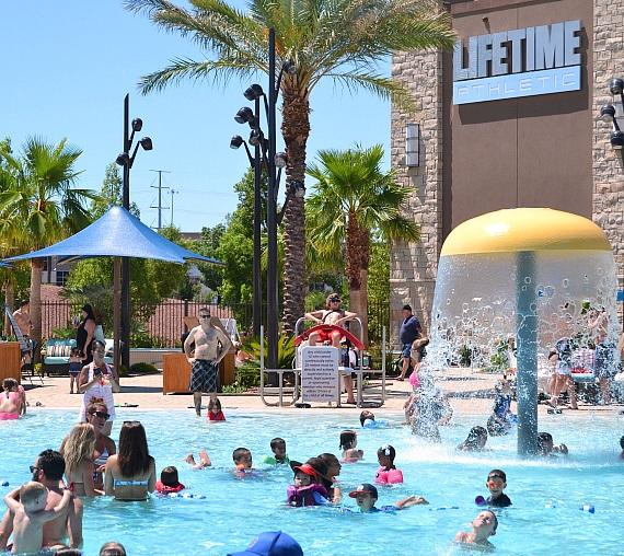 Life Time Athletic Green Valley's Fourth of July pool party