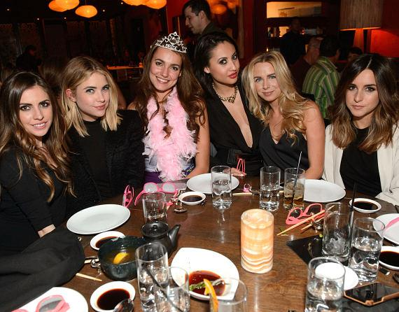 Francia Raisa, Ashley Benson and friends celebrate a bachelorette party at TAO Las Vegas