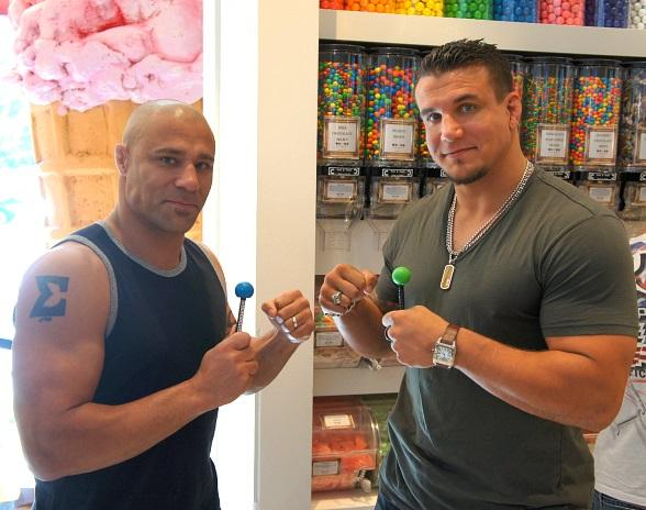 Frank Mir and Frank Trigg with Couture Pops at Sugar Factory at Paris Las Vegas