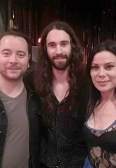 Guitarist Frank Sidoris with Ryan Stock and AmberLynn of Comedy Daredevil