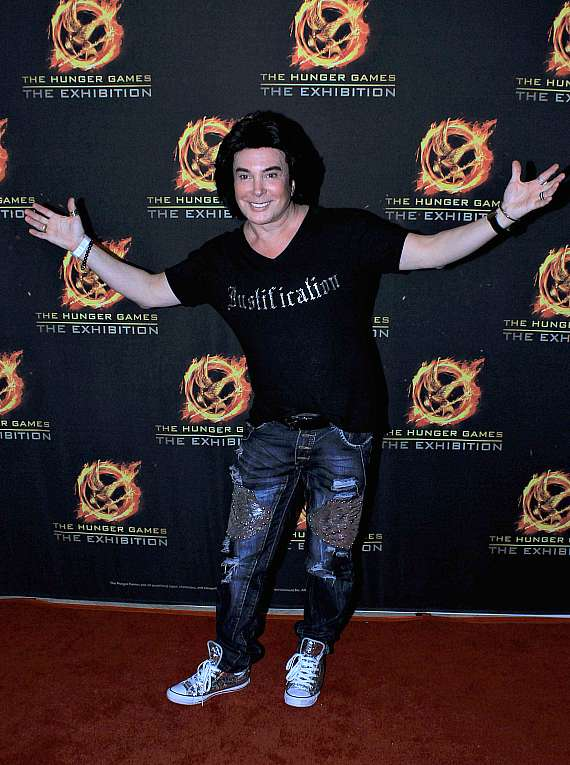 Frankie Marinoat at The Hunger Games: The Exhibition grand opening