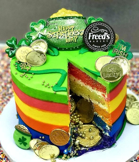 Strike Gold This St. Patrick's Day at Freed's Bakery; Bakery to Host Pot of Gold Cakes Contest