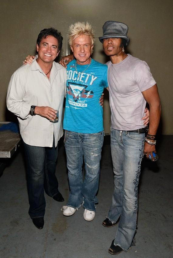 Gordy Brown, Chris Phillips and Zowie Bowie band member after Fremont Street performance