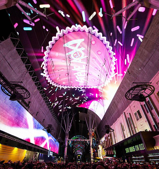 Fremont Street Experience unveils all-new Viva Vision light show featuring chart-topping hits from Steve Aoki