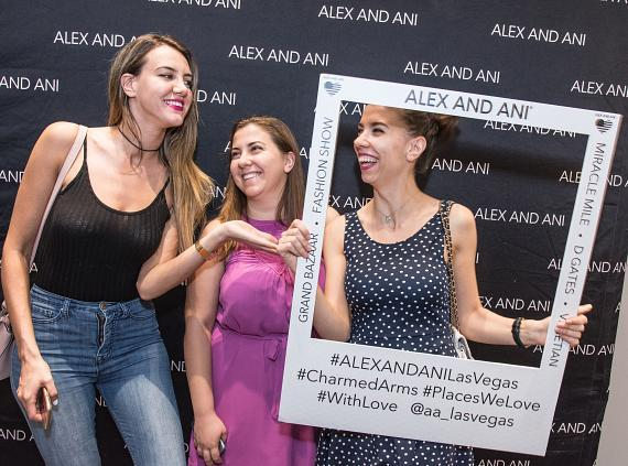 Friends Pose for a Photo at ALEX AND ANI's Grand Opening Event at Fashion Show Mall