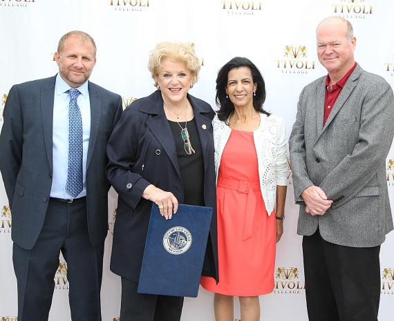 Noam Ziv, Mayor Carolyn Goodman, Segi Eitan and Councilman Bob Beers