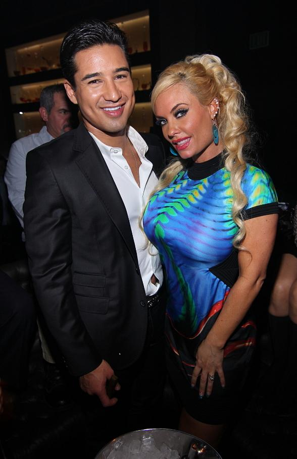 Mario Lopez and Coco Austin