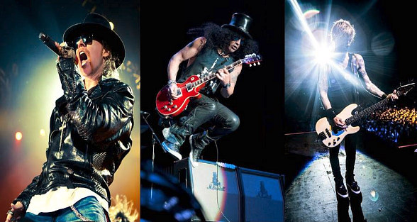 Guns N' Roses Historic Return to the Stage Opening Weekend of T-Mobile Arena in Las Vegas April 8-9