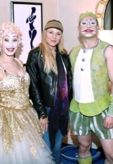 Singer-Songwriter Jewel, Pentatonix Vocalist Scott Hoying, Vegas Golden Knights' Colin Miller and Supermodel Heidi Klum at Cirque du Soleil in Las Vegas