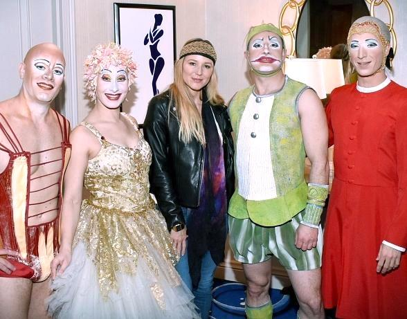 Singer-Songwriter Jewel, Pentatonic Vocalist Scott Hoying, Vegas Golden Knights' Colin Miller and Supermodel Heidi Klum at Cirque du Soleil in Las Vegas