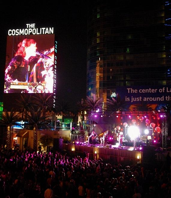 GROUPLOVE performs during Thursdays Live at The Cosmopolitan of Las Vegas' Boulevard Pool