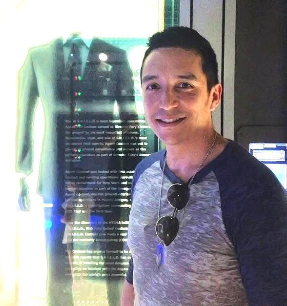 Marvel Agents of S.H.I.E.L.D. actor Gabriel Luna visits the Marvel Avengers S.T.A.T.I.O.N. attraction at Treasure Island Las Vegas