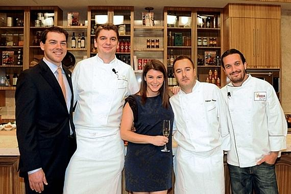 Gail, Jason Smith & Top Chefs in Tuscany Kitchen