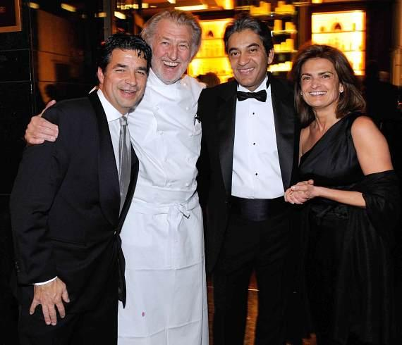 Richard Baker, Pierre Gagnaire, Rajesh Jhingon and Sylvie Gagnaire