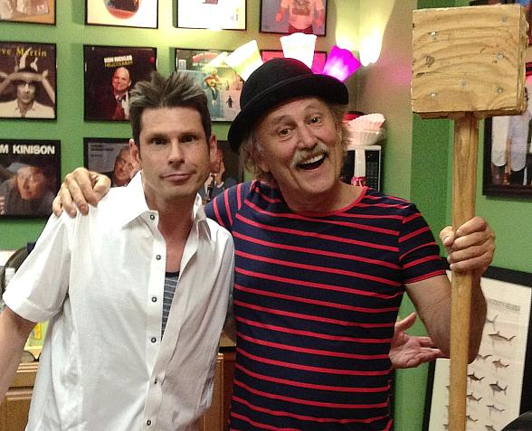 Comedy Magician Mike Hammer with Gallagher at The Laugh Factory in Tropicana Las Vegas