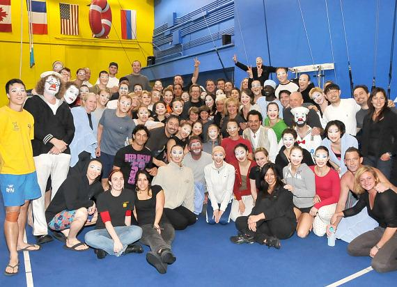 "Gary Oldman and the cast and crew of ""O"" by Cirque du Soleil"